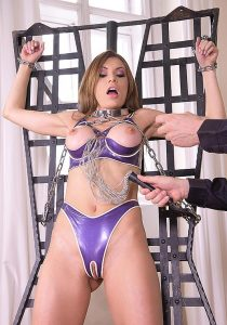 Chained slave girl