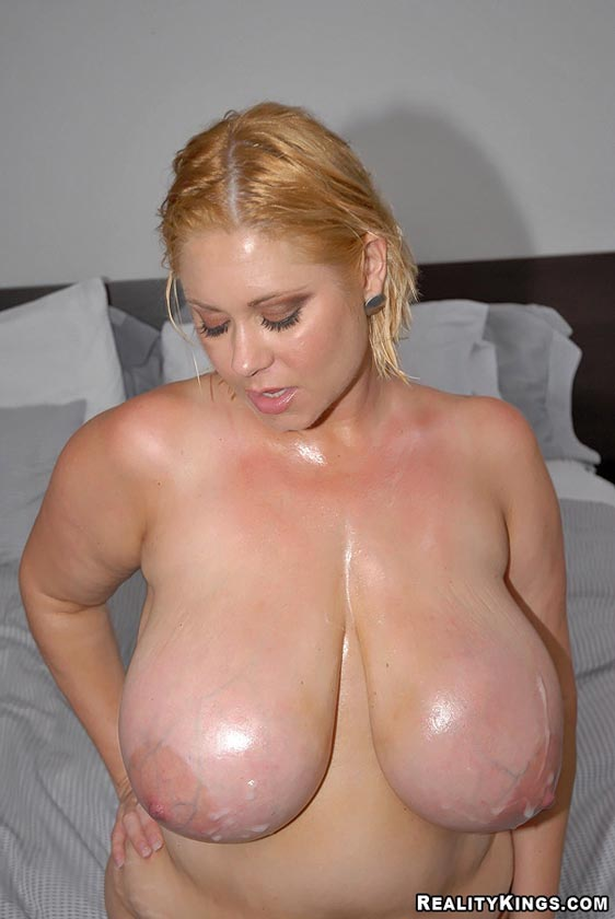 Girl With biggest tits ever gonna rock this guys world